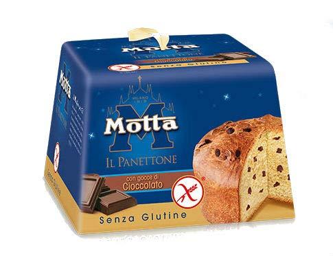 PANETTONE MOTTA SENZA GLUTINE CON GOCCE DI CIOCCOLATO 400 GRAMMI