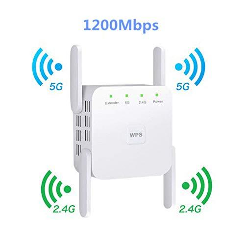 classement un comparer Amplificateur de signal répéteur WiFi LYzpf 2.4 / 5 GHz 1200 Mbit / s sans fil à portée étendue…