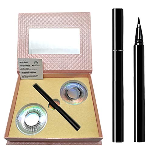JUSTDOLIFE Kit de cils faux-cils naturels auto-adhésifs avec stylo eyeliner à séchage rapide