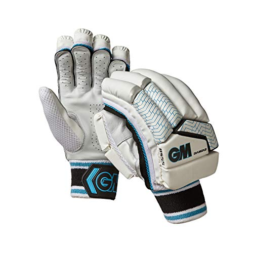 Gunn & Moore Jungen G&M Batting Gloves Diamond Cricket-Handschuhe, weiß, Junior LH