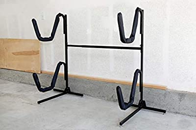 Insight Kayak Rack - Free Standing Heavy Duty Kayak Storage for Indoor/Outdoor (Holds 2 Kayaks)