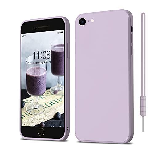 ORDA iPhone 8 Hülle, iPhone 7 Hülle, iPhone SE 2020 Hülle Silikon Hülle, Hanyhülle iPhone 8/7 Ultra Dünn mit Microfiber, Kratzfeste Hülle Schutzhülle Hülle für iPhone SE 2/iPhone 7/iPhone 8 4.7'' Lila