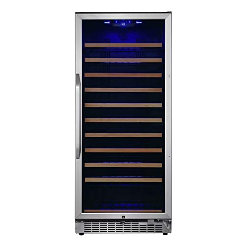 EdgeStar CWR1212SZ 24 Inch Wide 111 Bottle Capacity Free Standing Single Zone Wine Cooler with Even Cooling Technology