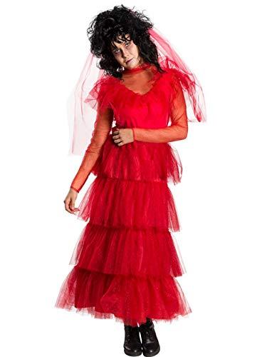 Rubie's Beetlejuice Lydia Vestido para mujer, color rojo, grande