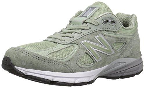 New Balance Women's Made 990 V4 Sneaker, Silver Mint/Silver Mint, 6 B US