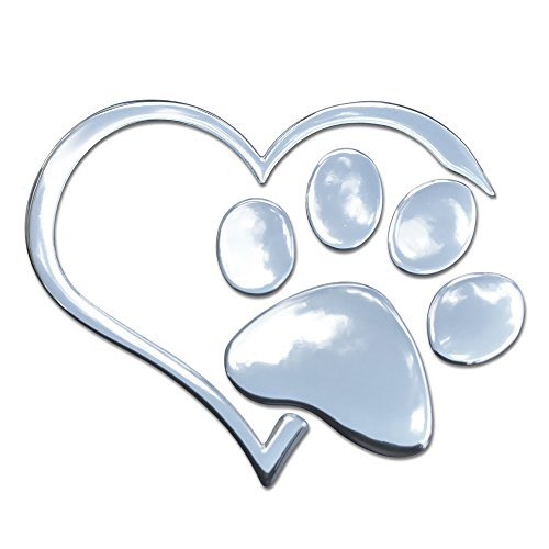 3D Heart and Paw Decal
