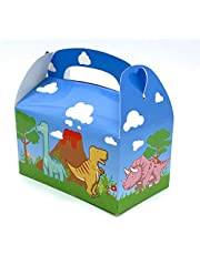 Adorox 24 Pack Dinosaur Party Treat Boxes Dinosaur Treat Bags for Kids Birthdays Party Favor Boxes