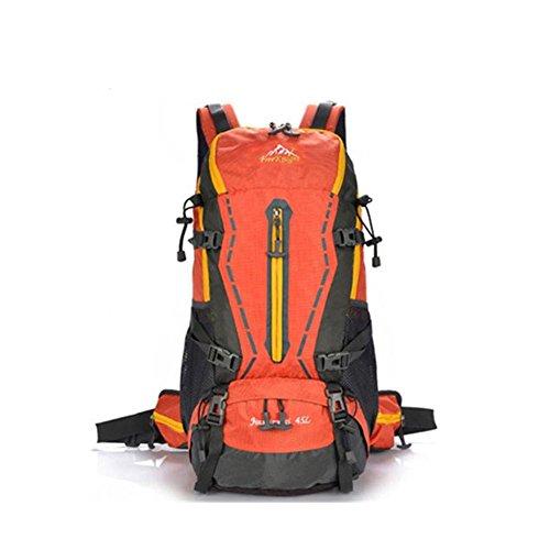 45L Nylon imperméable Sport professionnel extérieur Escalade Randonnée escalade alpinisme sacs à dos de voyage , orange