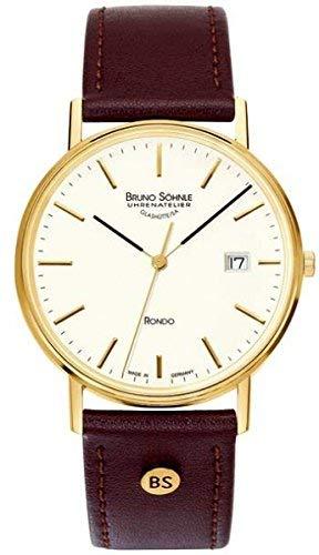 Bruno Söhnle Herren Analog Quarz Uhr mit Leder Armband 17-33105-241