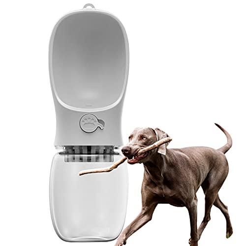 Edipets, Bebedero Perro Portatil, 350 ml, Antibacteriano, Botella Agua, Antibacteriano, a Prueba de Fugas, Libre de BPA, Ideal para Actividades al Aire Libre (Blanco)