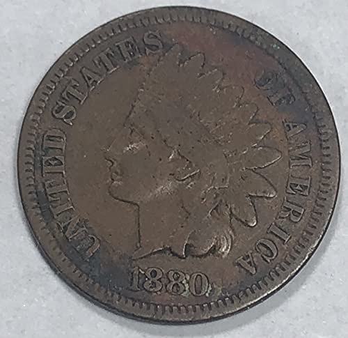 1880 P Indian Head Wild West ERA Penny Cent Good