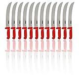 Caja de 12-12' cuchillo de cimetro de carnicero - mango de fibra roja (223011170)