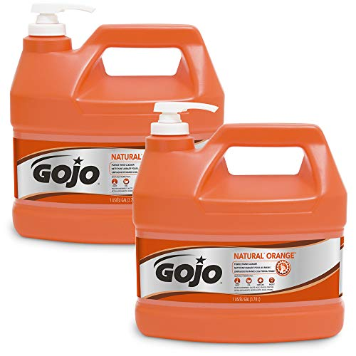 GOJO NATURAL ORANGE Pumice Industrial Hand Cleaner, 1 Gallon...