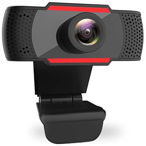 Xzyden Webcam con micrófono, cámara USB para PC, cámara streamcam, 1080P para ordenador portátil, Facecam, grabadora de videoconferencia