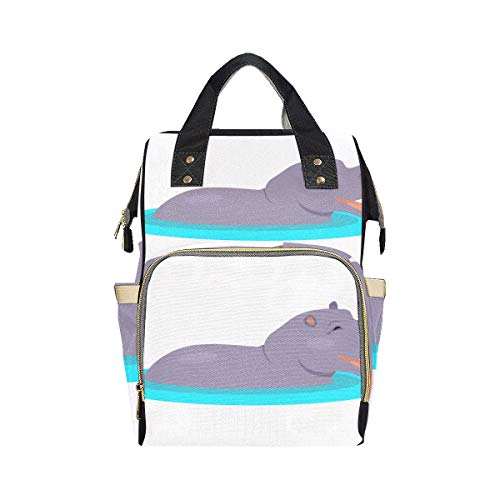 Big Swimming Hippo Lovely Animal Diaper Bag Backpacks Mom Dad Changing Large Capacity Multi-function Backpack Nappy Bag For Baby Girl Boy