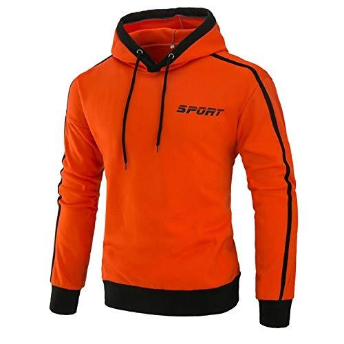 BAGFP Sweatshirt Neue Jugend Pullover Männer Schlanke Kapuze Farblich Passenden Sport-Print Mantel Herrenhemd Trend Bequem