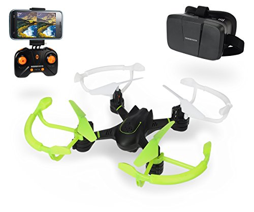 Dickie Toys 201119434 - RC DT FPV-VR Quadrocopter, funkferngesteuert mit Kamerafunktion und Virtual Reality Brille, 20 cm