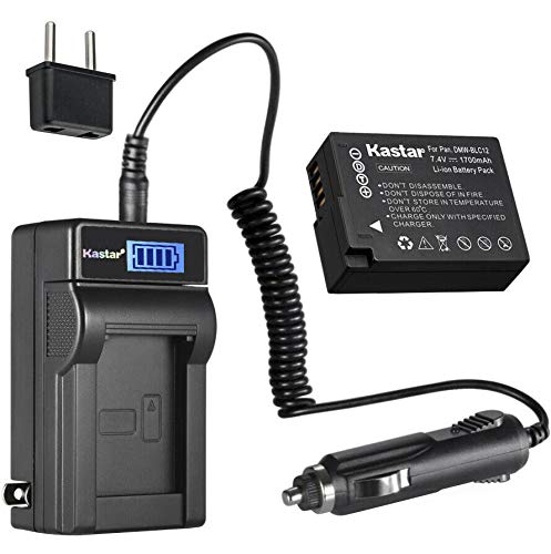 Kastar 1-Pack DMW-BLC12 Battery and LCD AC Charger Compatible with Panasonic Lumix DMC-FZ200 FZ200, Lumix DMC-FZ300 FZ300, Lumix DMC-FZ1000 FZ1000, Lumix DMC-FZ1000 II FZ1000II, Lumix DMC-FZ2000 -  CHL-1B-BLC12-J