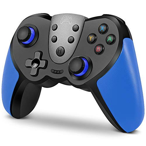 Wireless Controller for Nintendo Switch, KINGEAR Wireless Switch Controller Remote Gamepad Joystick with NFC, Switch Pro Controller Support Turbo, Motion Control, Dual Vibration and Gyro Axis (Blue)