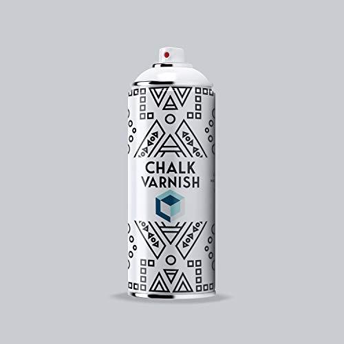 COSMOS LAC Chalk Effect Spray - Hochwertiger Finisher für Kreide-Sprühfarbe - perfekt für DIY Projekte (Transparent Varnish)
