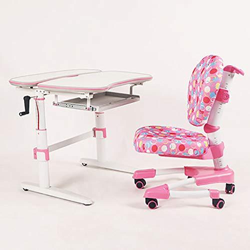 Höhenverstellbarer Kinderschreibtisch-Set Ergonomischer Kinderarbeitstisch und Stuhl -Studio Deluxe Funktioneller Schulschreibtisch mit Stuhl Kippbarer Schreibtisch, ausziehbare Schublade (Anzug ab 3