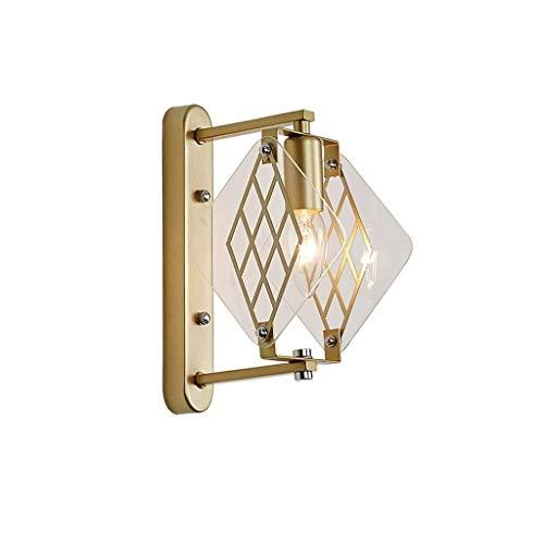 CHNOI Lámpara de pared industrial con jaula, luz de pared antigua, para cabecero, dormitorio, mesita de noche, porche