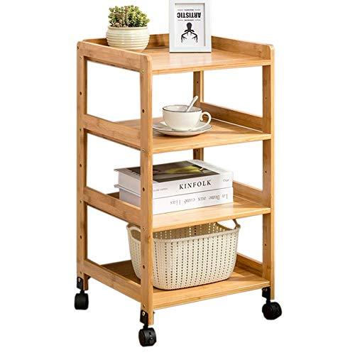 Home&Selected Furn/draagbare bank, bijzettafel, woonkamer, 4 niveaus, bamboe, boekenkast, opbergkast, slaapkamer, nachtkastje, hoektafel (afmetingen: 35 x 38 x 76 cm) 45x38x76CM