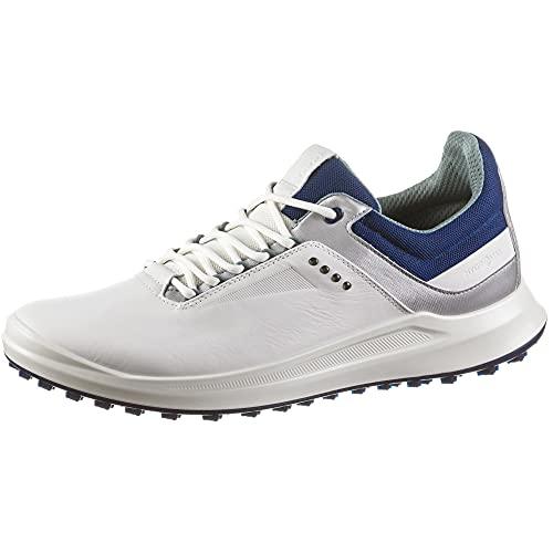 ECCO Golf Core Men's Hydromax Water-Repellent Golf Shoe (White/Silver...