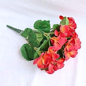 Silk Flower Arrangements YSQSPWS Artificial Flowers Artificial Flowers Artificial Begonia Flowers Silk Fake Hydrangea Flower Home Office Wedding Decoration Environmental Protection (Color : Sunset)