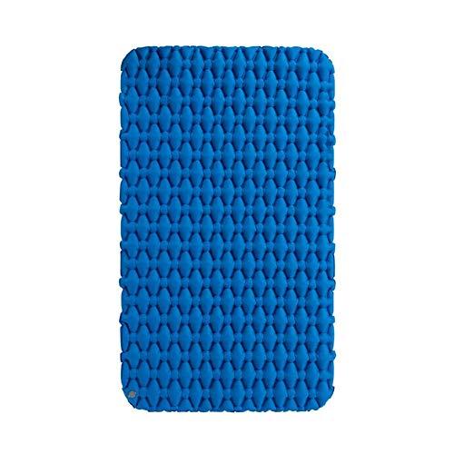 SSN Nylon TPU im Freien aufblasbaren Matratze mit verdickter Feuchtigkeitsbeständig Doppelmatratze, ultraleichte tragbare Camping-Matte, 200x120x6.5cm (Farbe : Blau)