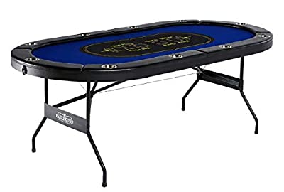 Barrington Texas Holdem Poker Table for 10 Players with Padded Rails and Cup Holders