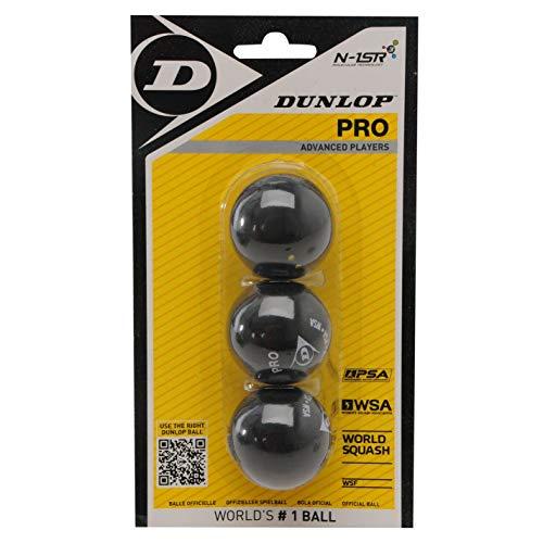 Dunlop - Pelotas de Squash 3 Piezas
