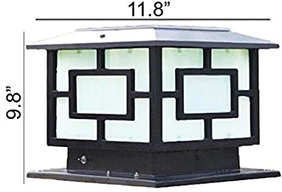 The 11.8 In X 11.8 In (30CM X 30CM) Solar Powered Very Large Post Cap Lights Or Outdoor Solar Pillar Lights