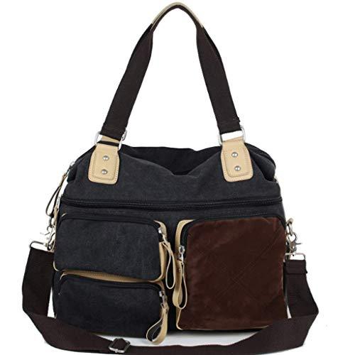 RXF Umhängetasche Messenger Bag beiläufige Segeltuch-Einkaufstasche (Farbe : Blau, größe : S)