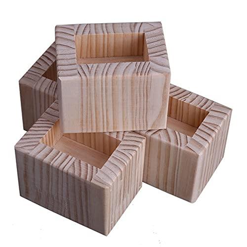 Levantador de Muebles,Elevador de Muebles de Madera Maciza,Levantador de Mesa,Patas de Mesa,para Muebles que Necesitan ser Elevados,4 Piezas(Color:B,Size:15cm/5.9in)