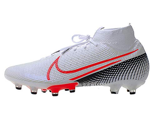 Nike Herren Fußball-Schuhe Mercurial Superfly 7 Elite Ag-Pro Kunstbeläge, Farbe:Weiß, Größe:EUR 42.5