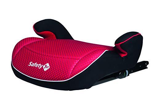 Safety 1st Manga Fix Siège auto Isofix Enfant, Rehausseur Isofix, Siège D'appoint Groupe 3 (22-36 kg), Utilisable de 6 à 12 ans, Pixel Red