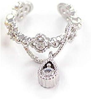 bestwishes2u Cute Without Pierced Ear Bone Folder Punk Fashion Ear Cuff Wrap Rhinestone Cartilage Clip On Earring Non Piercing Jewelry