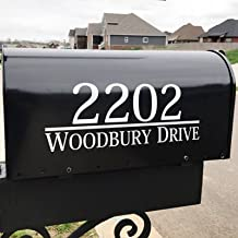 Maribeatty Mailbox Numbers Decal Custom Made Your Name and Address Maibox Vinyl Stickers Decor