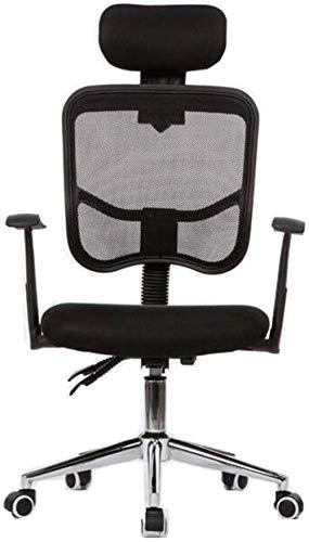 Silla giratoria THBEIBEI para juegos, silla de escritorio, silla de ordenador, silla de casa, oficina, red transpirable 94 x 60 cm (color: negro)