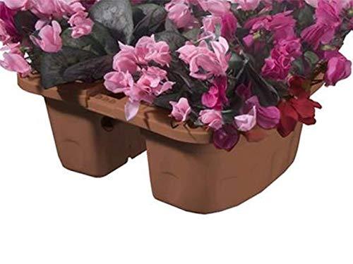 Bama Jardinière Double, Vase, Klunia, en résine, Couleur Terre Cuite, Ø 40 cm