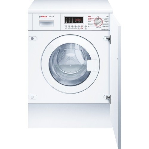 Bosch WKD28541FF Integrado Carga frontal B Color blanco lavadora - Lavadora-secadora (Carga frontal, Integrado, Color blanco, Izquierda, LED, Acero inoxidable)