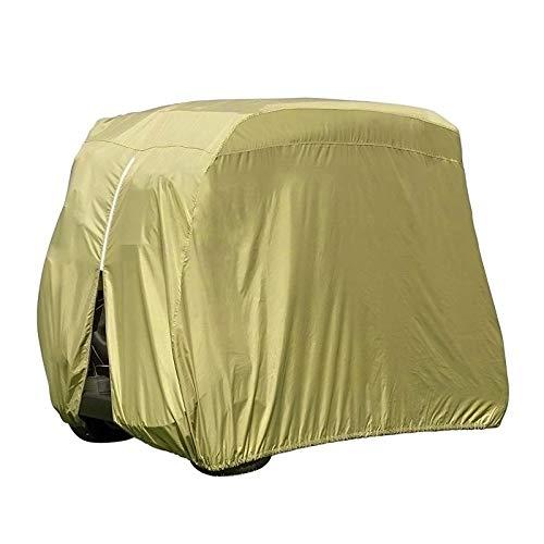YINETTECH Funda impermeable para carrito de golf para 4 pasajeros, resistente al sol, 270 cm de altura, tela de poliéster 210D, color marrón topo