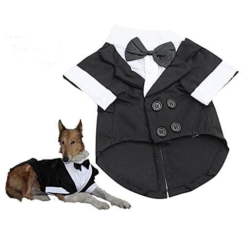 Evursua Large Dog Tuxedo Wedding Party Suit,Dog Costumes for Large...