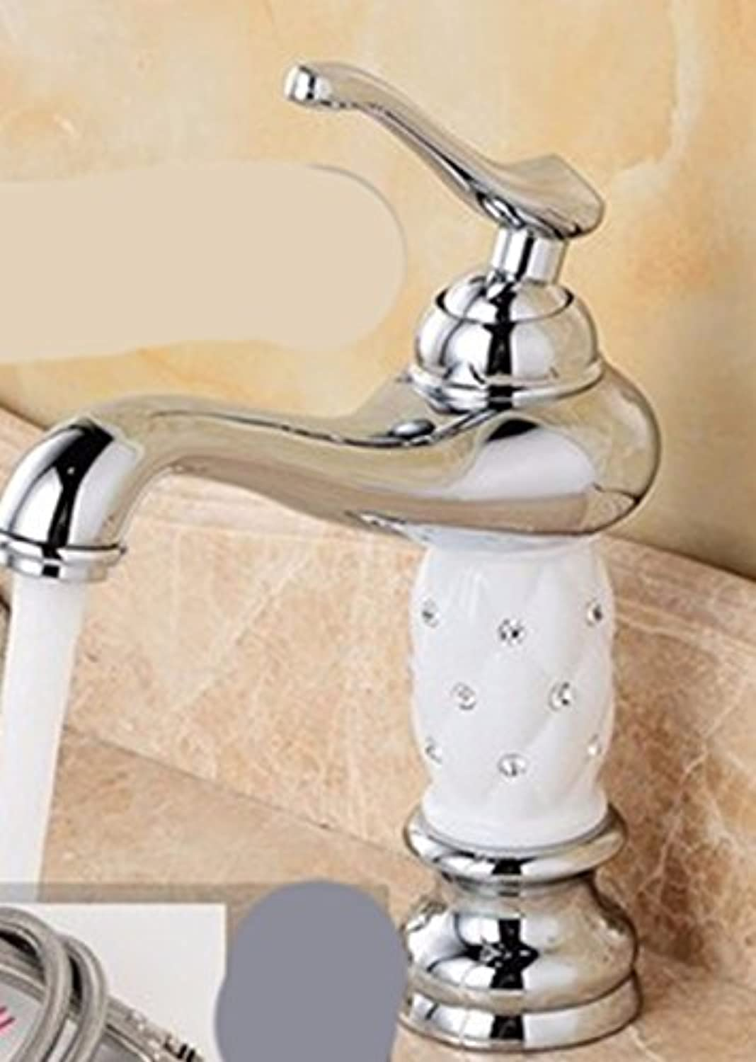 Hlluya Professional Sink Mixer Tap Kitchen Faucet Copper, hot and cold single hole, plus high, Washbasin Faucet,5