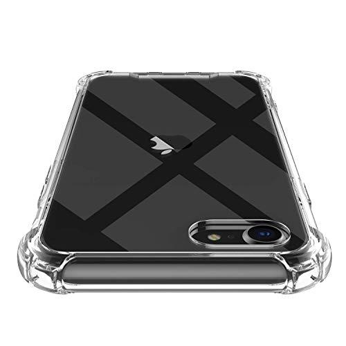 Shamo's Cover Compatibile con iPhone SE 2020, iPhone 8 e iPhone 7 Custodia Trasparente TPU Morbido Silicone Bumper e Posteriore Rigido Anti Scivolo, AntiGraffio e Antiurto,HD Chiaro