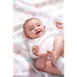 aden + anais Essentials Swaddle Blanket, Muslin Blankets for Girls & Boys, Baby Receiving Swaddles, Newborn Gifts, Infant Shower Items, Wearable Swaddling Set, 4-Pack, Flora Fauna