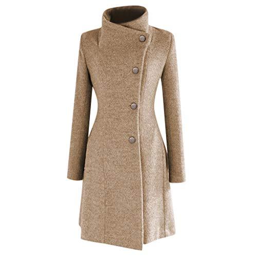 FRAUIT staande kraag wollen jas dames winterjas met riem onregelmatig knoop trenchcoat warm zacht comfortabele parka mode elegante streetwear kleding blouse top outwear Coat