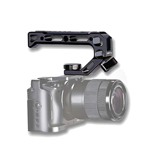 HAFOKO R008 Kamera/DSLR Top Handle Grip ARRI Ortung Loch Verbindung mit Kalter Schuh Adapter kompatibel with A6400 6600 Metall Low Angle Shots Mikrofon 15MM NATO Rail Rod Clamp Rohrloch Kamera Käfig