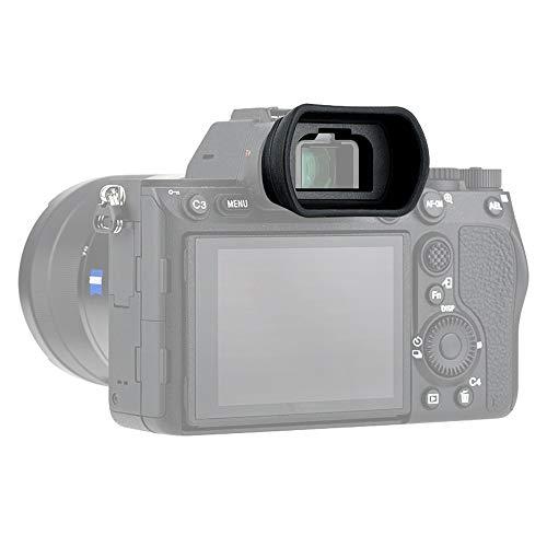 PROfezzion Visor Ocular Silicona Suave de Largo y Extendido para Sony Alpha A9, A9II, A7, A7 II, A7III, A7R, A7RII, A7RIII, A7RIV, A7S, A7S II, A58, A99II Reemplazo Sony FDA-EP18